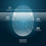 指纹扫描传染媒介设计例证。 免版税库存图片