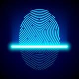指纹扫描器 向量例证