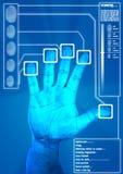 指纹扫描程序 免版税库存图片