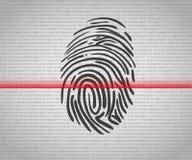 指纹扫描 图库摄影