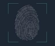 指纹扫描 库存照片