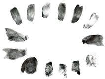 指纹框架 库存照片