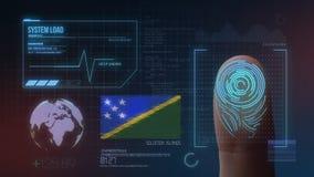 指纹生物统计的扫描的鉴定系统 所罗门群岛国籍 免版税库存图片