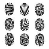 指纹的创造性的传染媒介例证 艺术设计指纹 安全罪行标志 抽象概念图表元素 略图 皇族释放例证