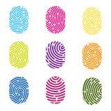指纹的创造性的例证 艺术设计指纹 安全罪行标志 抽象概念图表元素 略图 库存例证