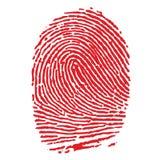 指纹红色 免版税库存图片
