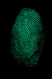 指纹绿色 免版税库存图片