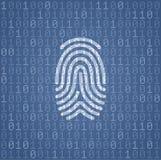 指纹署名用二进制编码 库存照片