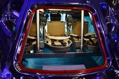 指令舱阿波罗与可看见的乘员组位子的空间项目CM  库存照片