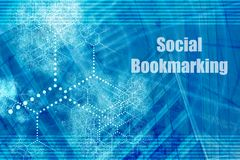 按书签的社交 库存例证