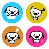 按五颜六色的逗人喜爱的狗 免版税库存图片