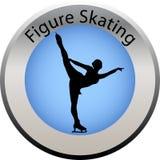 按图比赛滑冰的冬天 免版税图库摄影