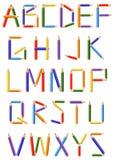 按字母的颜色-铅笔 免版税库存照片