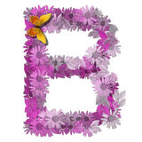 按字母的b辅音信函 免版税库存照片