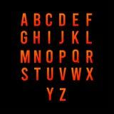 按字母顺序的字体传染媒介模板设计例证 向量例证
