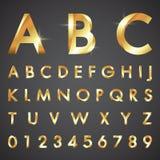 按字母顺序的字体和数字 免版税库存照片