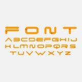 按字母顺序的字体 免版税库存图片
