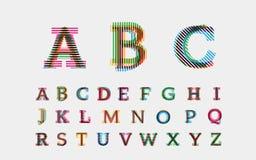 按字母顺序的字体 向量例证