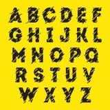 黑按字母顺序的字体 免版税库存图片