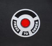 按定购在黑背景的快餐按钮 免版税库存图片