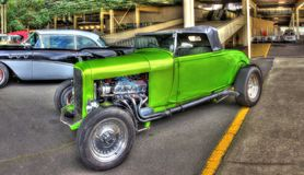 按客户要求设计的20世纪20年代旧车改装的高速马力汽车 图库摄影
