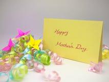 按摩卡片;愉快的母亲节 免版税库存图片