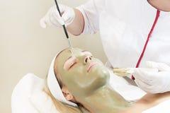 按摩和脸面护理处理化妆面具  库存图片