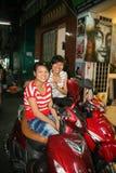按摩女孩在胡志明市,越南 免版税库存图片