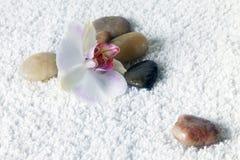 按摩的石头 免版税库存图片
