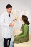 按摩脊柱治疗者处理 免版税库存图片