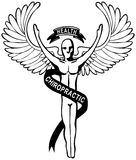 按摩脊柱治疗者徽标 免版税库存图片