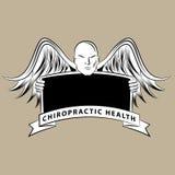 按摩脊柱治疗者健康标志 库存例证