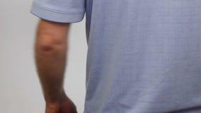 按摩去的背部疼痛 影视素材