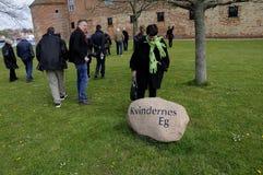 按游览对SONDBRBORG城堡镇视图 库存照片