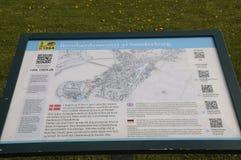 按游览对SONDBRBORG城堡镇视图 图库摄影