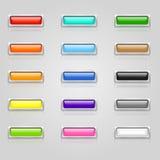 按钮上色了万维网 免版税库存照片