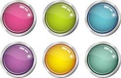 按钮上色玻璃状 免版税库存图片