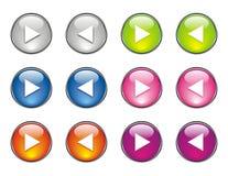 按钮上色许多网站 免版税库存照片