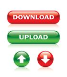 按钮下载加载 免版税库存照片