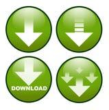 按钮下载图标 免版税库存图片