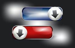 按钮下载集合向量万维网 图库摄影