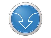 按钮下载 免版税库存图片