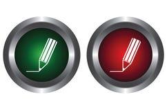 按钮书写二 向量例证