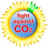 按钮二氧化碳战斗 库存例证