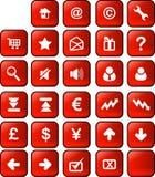 按钮互联网万维网 免版税库存图片