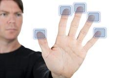 按钮五 免版税库存照片