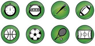按钮体育运动万维网 库存照片