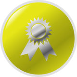 按钮例证得奖的符号向量 免版税库存照片