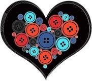 从按钮做的心脏 皇族释放例证