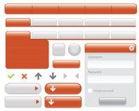 按钮元素集万维网 免版税图库摄影